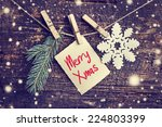 Christmas Card With Snowflakes...