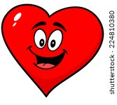 heart mascot | Shutterstock .eps vector #224810380
