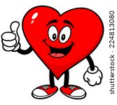heart with thumbs up | Shutterstock .eps vector #224813080