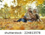 grandparents and grandson... | Shutterstock . vector #224813578