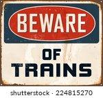 Vintage Metal Sign   Beware Of...