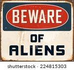 vintage metal sign   beware of... | Shutterstock .eps vector #224815303