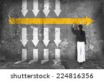 difference thinking concept | Shutterstock . vector #224816356
