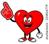 heart with foam finger | Shutterstock .eps vector #224816779