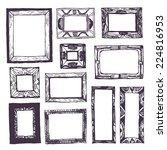 doodle frames | Shutterstock .eps vector #224816953