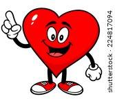 heart talking | Shutterstock .eps vector #224817094