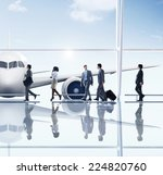 business people travel airport... | Shutterstock . vector #224820760