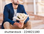 waiting for his girlfriend.... | Shutterstock . vector #224821180