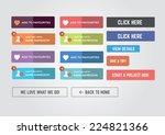web buttons | Shutterstock .eps vector #224821366