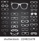 set of sunglasses and glasses....   Shutterstock .eps vector #224821678