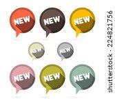 flat design vector stickers  ... | Shutterstock .eps vector #224821756