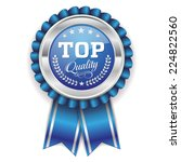 blue top quality badge with... | Shutterstock .eps vector #224822560