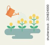 flat design colorful vector... | Shutterstock .eps vector #224824000