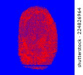 real fingerprint in white... | Shutterstock . vector #224826964