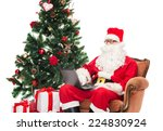 technology  holidays and people ... | Shutterstock . vector #224830924