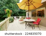 wooden walkout deck with patio... | Shutterstock . vector #224835070