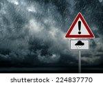 Caution   Heavy Rain Symbol