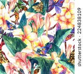 tropical seamless pattern with... | Shutterstock . vector #224838109