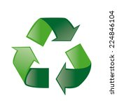 an isolated green recycle... | Shutterstock .eps vector #224846104
