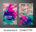 abstract hand painted... | Shutterstock .eps vector #224847799