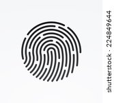 Id App Icon. Fingerprint Vecto...