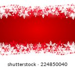 christmas red background  | Shutterstock . vector #224850040