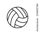 volleyball | Shutterstock .eps vector #224850784