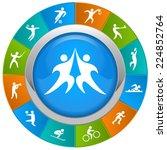 world of sports.   Shutterstock .eps vector #224852764