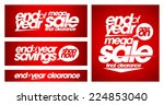 end of year mega sale banners... | Shutterstock .eps vector #224853040