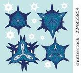 vector set of graphic... | Shutterstock .eps vector #224855854