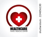 medical design over white... | Shutterstock .eps vector #224856130