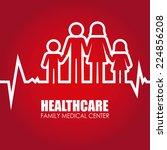 medical design over white... | Shutterstock .eps vector #224856208