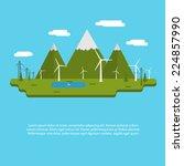 flat design vector illustration ... | Shutterstock .eps vector #224857990
