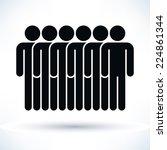 black six people  man figure ... | Shutterstock .eps vector #224861344