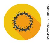crown of thorns. single flat... | Shutterstock .eps vector #224863858