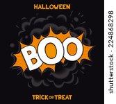boo   3d comic speech bubbles... | Shutterstock .eps vector #224868298
