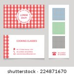 visit cards set and 3 seamless... | Shutterstock .eps vector #224871670