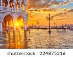 piazza san marco at sunrise ... | Shutterstock . vector #224875216