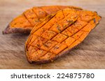 baked yam sweet potato | Shutterstock . vector #224875780