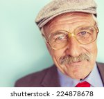portrait of a smiling and... | Shutterstock . vector #224878678
