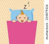 sleep design over beige...   Shutterstock .eps vector #224879326