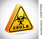 ebola graphic design   vector... | Shutterstock .eps vector #224879590