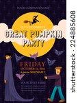 halloween event poster template ... | Shutterstock .eps vector #224885608