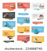 toy flat banner background set  ... | Shutterstock .eps vector #224888740