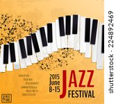 jazz music festival  poster... | Shutterstock .eps vector #224892469