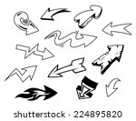 set of doodle arrows isolated... | Shutterstock .eps vector #224895820