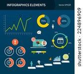 infographics elements. vector... | Shutterstock .eps vector #224896909