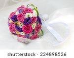 a beautiful bridal bouquet at a ... | Shutterstock . vector #224898526