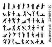 action people symbol set on... | Shutterstock .eps vector #224899480