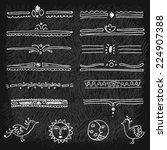 folk design elements. | Shutterstock .eps vector #224907388